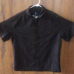 Caribbean Joe Mens Short Sleeve Shirt